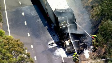 The eastbound off-ramp from the M4 to Reservoir Rd is closed due to a truck fire. November 19, 2020.