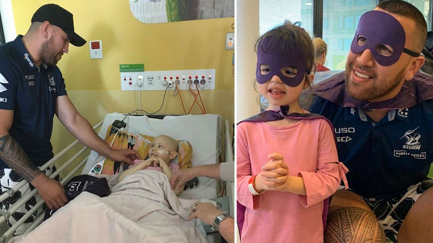 Nelson Asofa-Solomona visited a children's hospital in Melbourne