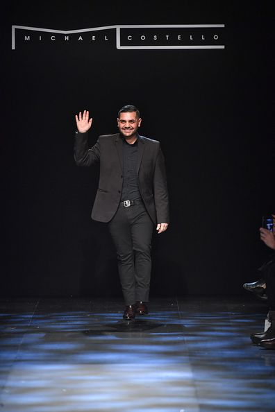 Fashion designer Michael Costello walks the runway at the Michael Costello show during, New York Fashion Week Fall Winter 2017-2018 on February 9, 2017 in New York City.