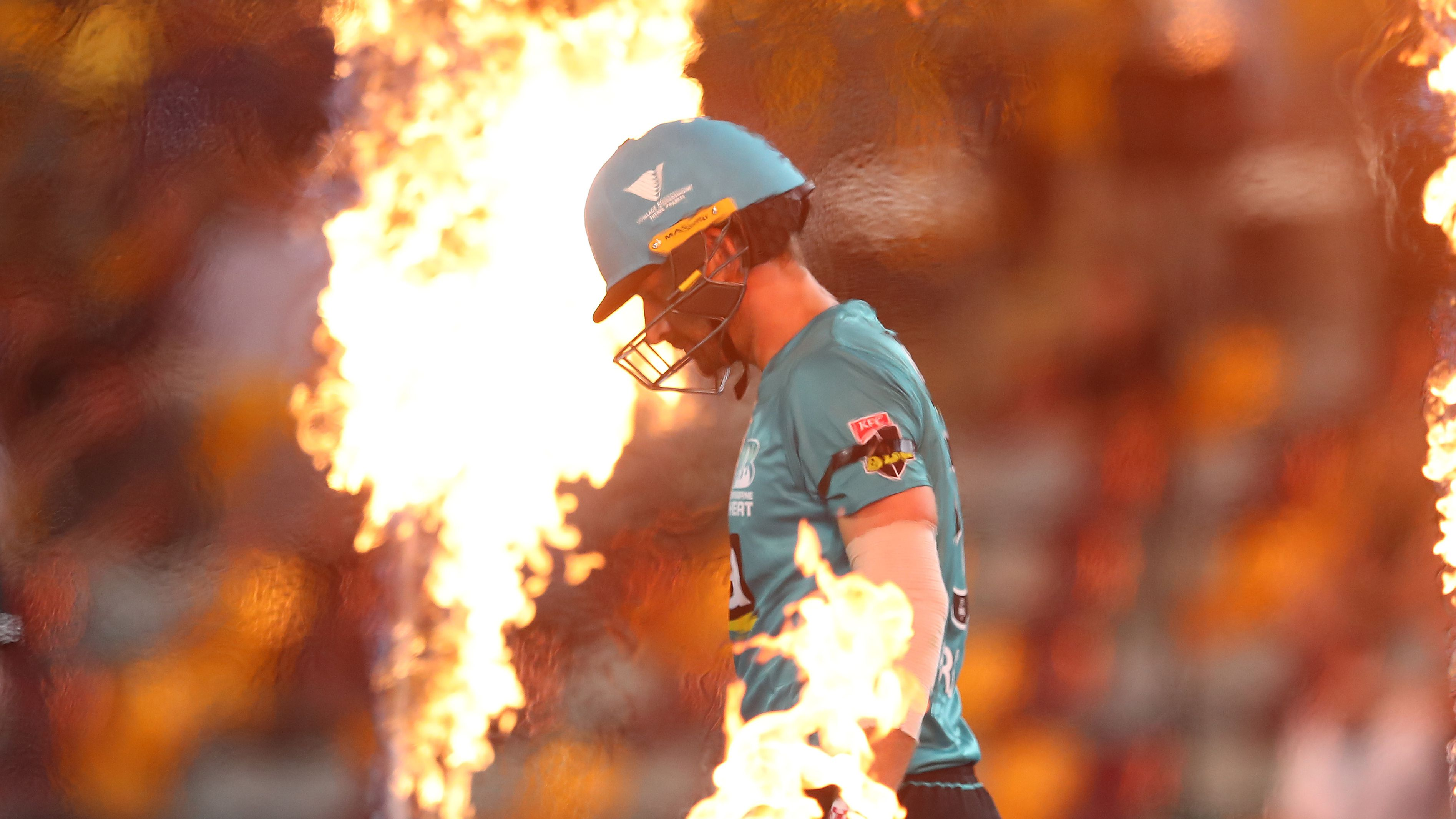 Joe Burns' horror season continues as the axed Test opener falls cheaply for the Brisbane Heat