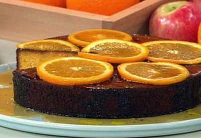 Greek orange & almond cake