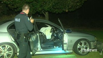Police are investigating after a pursuit ended in a crash in a destroyed park.