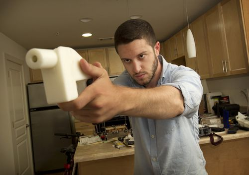 The US gun activist has been fighting to allow 3D-printed guns to be accessible to anyone and has been the subject of intense legal and government scrutiny. Picture: AAP.