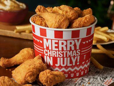 KFC Australia Christmas in July menu meal deal