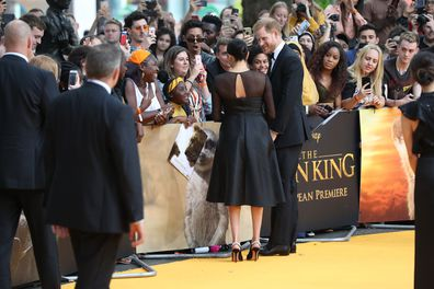 Fan reacts to seeing Meghan Markle at Lion King premier in London