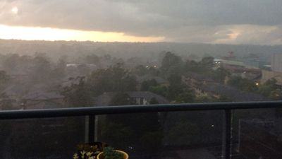 Clouds rolling in across Hornsby. (Sandy Valentine-Munn)