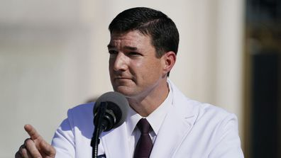 Dr Sean Conley, physician to President Donald Trump.