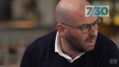 George Calombaris breaks down apologies for underpaying staff in ABC 7.30 interview.