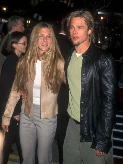 Jennifer Aniston and Brad Pitt in 1998.