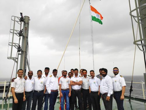 The Jag Anand crew in a photo taken last year by crew member Virendrasingh Bhosale.