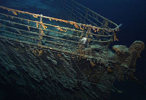 Bow of wreck of RMS Titanic (National Oceanic and Atmospheric Administration)