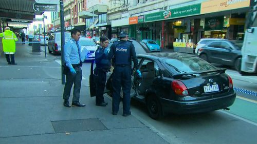 A manhunt has been launched for the fourth man involved in the incident. (9NEWS)