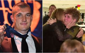 The emotional moment Dustin Martin's family learned of his Brownlow win