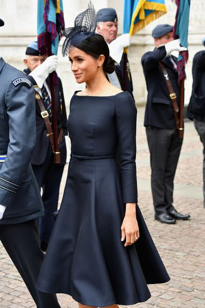 Meghan Markle in bespoke Dior at the Royal Air Force Centenary service, July 2018