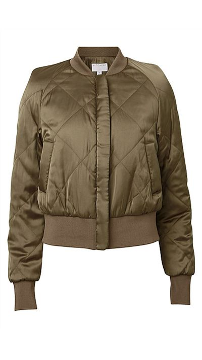 """<a href=""""http://www.witchery.com.au/shop/woman/clothing/jackets-and-coats/60178660/Quilt-Luxe-Bomber.html"""">Quilt Luxe Bomber, $199.95, Witchery</a>"""