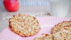 Two ingredient healthy oat apple cookies