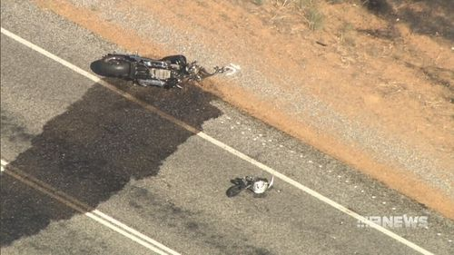 A motorcylist was killed in the crash on the Albany Highway. (9NEWS)