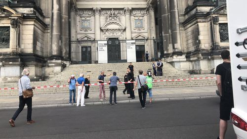 Ms Wenzel said the incident began when the man entered the Berlin Cathedral, locally known as Berliner Dom, and began yelling and waving a knife in the area of the altar. Picture: CrowdSpark