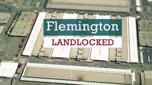 "Farmers argue the Flemington site is ""landlocked"". (9NEWS)"