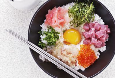 Japanese rice and egg bowl