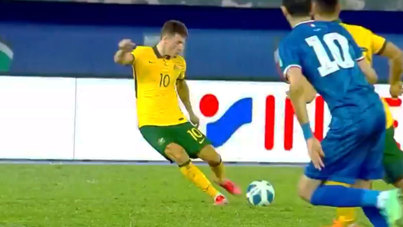 Ajdin Hrustic stars for the Socceroos.