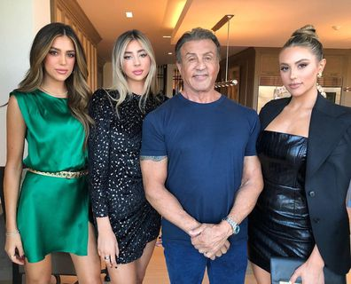 Sylvester Stallone, 75, shared a photo with children Sophia, 24, Sistine, 23, and Scarlet, 19.
