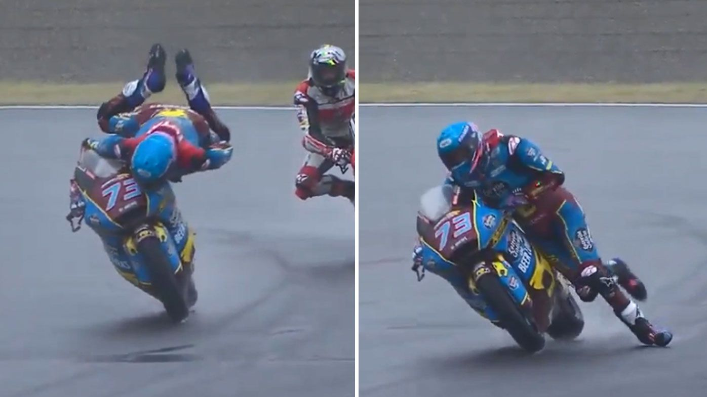 Alex Marquez makes a stunning save