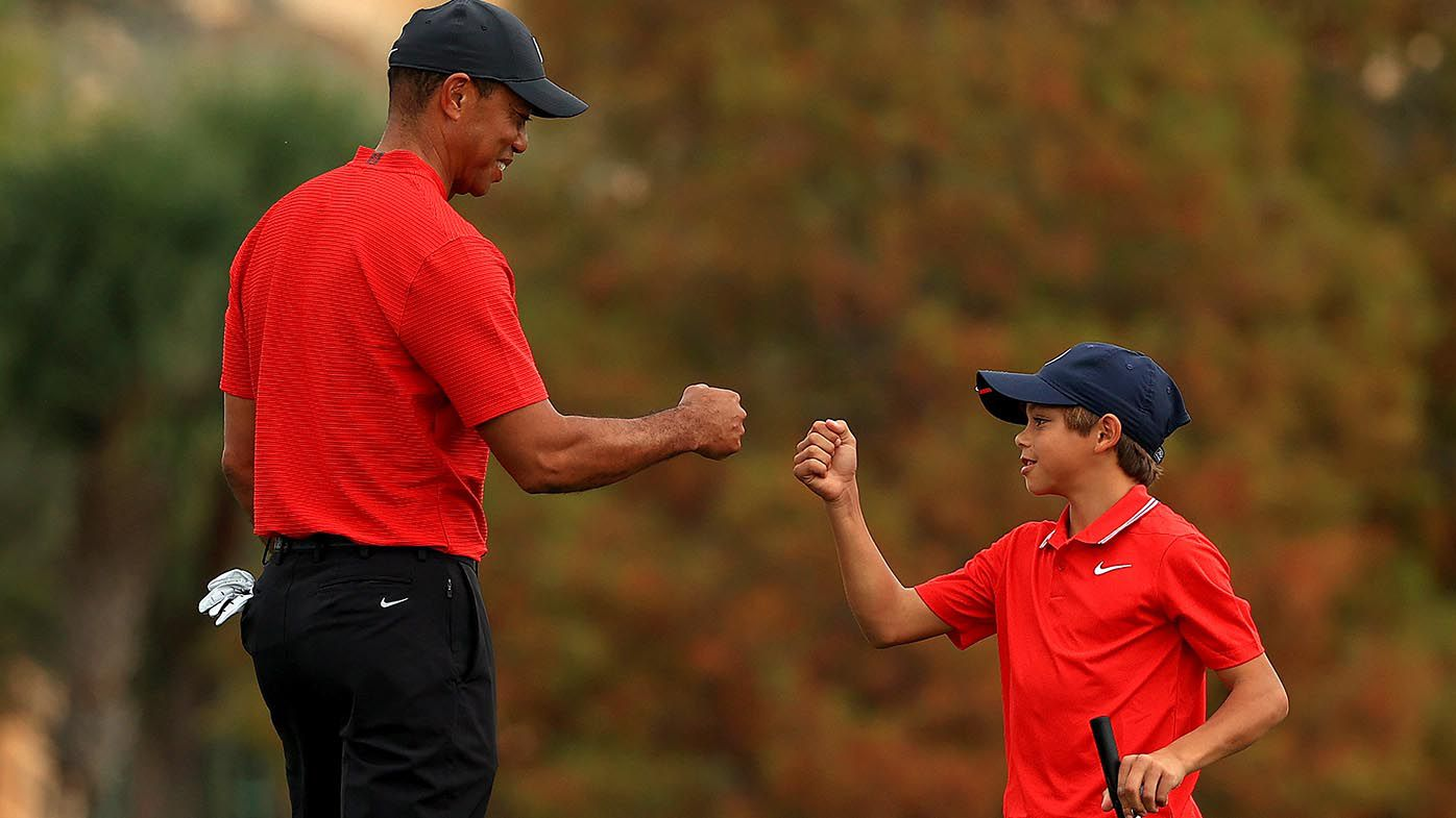Tiger Woods and son Charlie wear iconic red shirts as PNC Championship concludes