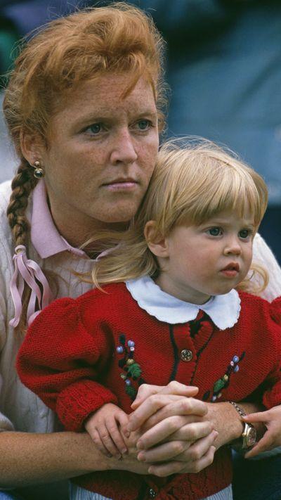 Princess Beatrice with her mother, Sarah, Duchess of York