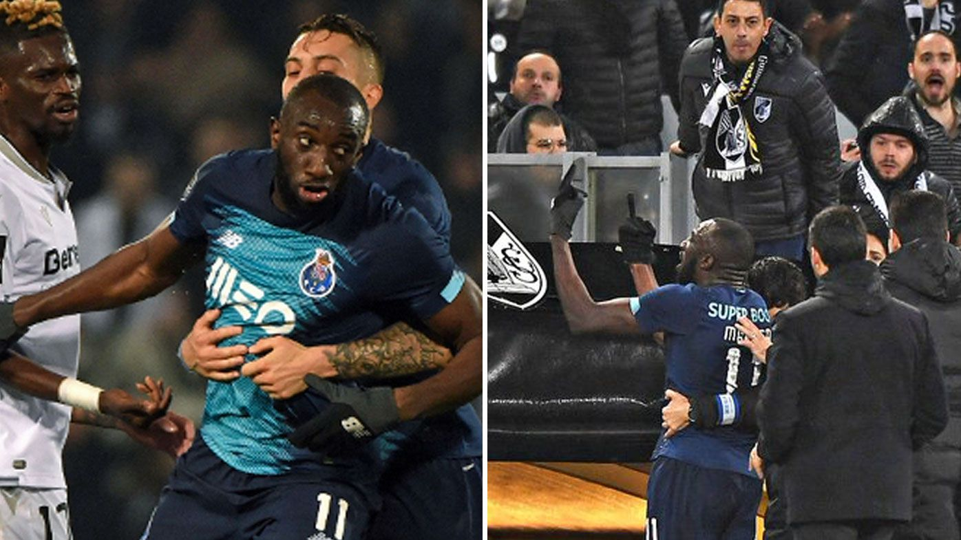 FC Porto striker Moussa Marega walks off after copping racist abuse
