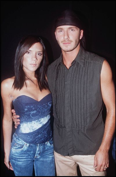 <p><strong>Hip & Hop</strong></p> <p>Victoria and David Beckham at the Party in the Park at Hyde Park, London, July, 2001.</p>