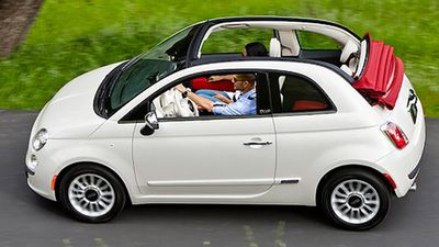 The Fiat 500 C Lounge was rated the best value convertible under $60,000, with the Volkswagon Golf 118TSI Exclusive coming second, and the Mini Cooper Cabrio coming third. (Supplied)