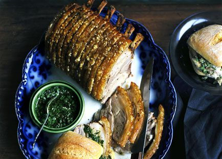 Rack of roast pork
