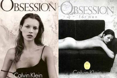 But it was Calvin Klein who catapulted Mossy into superstardom after she appeared completely starkers in an Obsession ad. It sparked both admiration for her unusual looks and criticism for her overly slim figure! It was the first of many nude shots that Kate would pose for during her career<br/><br/>