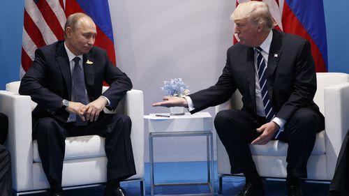 President Donald Trump meets Russian President Vladimir Putin at the G20 Summit on July 7, 2017, in Hamburg. Photo: AP