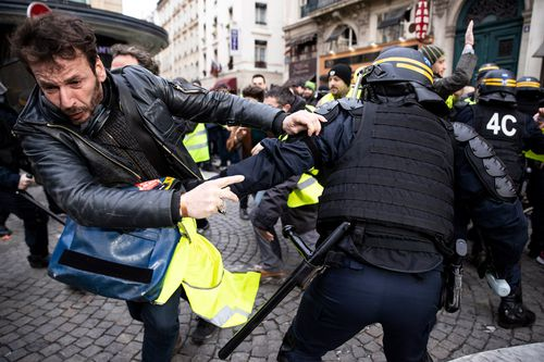 Several demonstrations were expected across France on Saturday (local time), including a march in the city of Versailles.