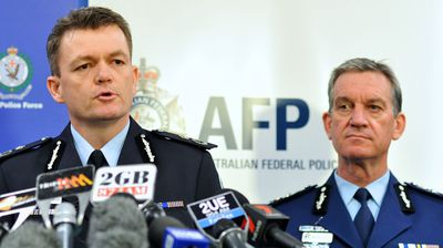 "AFP Acting Commissioner Andrew Colvin (left) and NSW Police Commissioner Andrew Scipione hold a press conference at 9.30am. They say  the ""strength and capability of our counter terrorism forces to stop these attacks from happening. ""We have in fact disrupted that particular attack,"" Commissioner Scipione says."