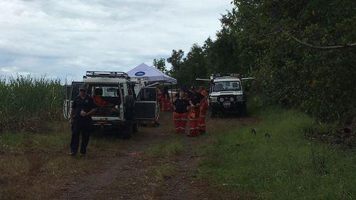 Emergency services at the scene near Innisfail. (9NEWS)