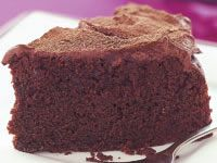 Chocolate mayonnaise cake with fudge frosting