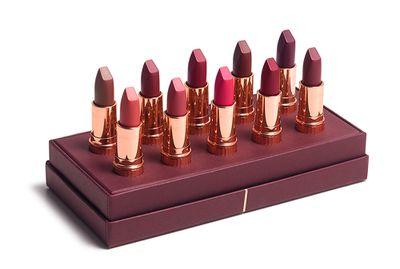 "<a href=""http://www.charlottetilbury.com/au/luxury-lipstick-wardrobe-matte-revolution.html "" target=""_blank"">Luxury Lipstick Wardrobe Matte Revolution, $460,Charlotte Tilbury.</a>"