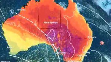 Heatwave Australia map