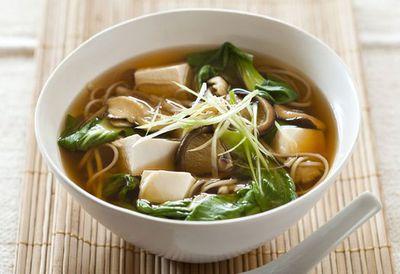Tofu and mushroom miso soup