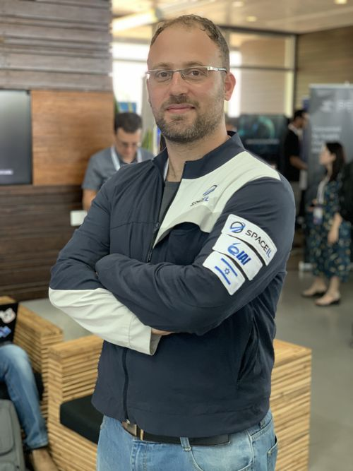 SpaceIL co-founder Kfir Damari at Cyber Week at Tel Aviv University.