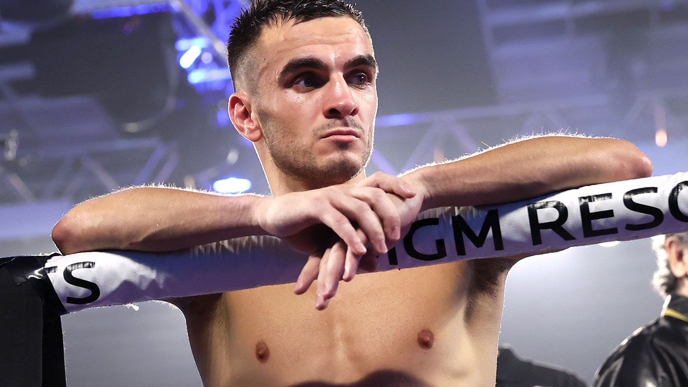 Andrew Moloney and Jason Moloney await decision after fight with Joshua Franco for the WBA super flyweight title at the MGM Grand Conference Center on November 14