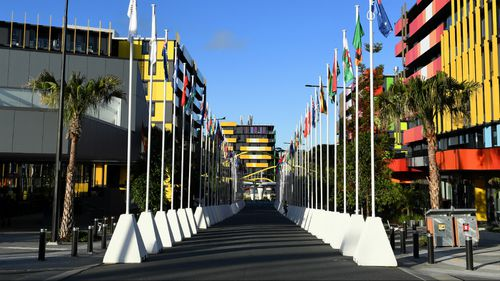 A flu outbreak has hit the athletes' village. (AAP)