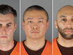 From left to right: Thomas Lane, Tou Thao, J. Alexander Kueng. The three officers have been charged with aiding and abetting Derek Chauvin, who is charged with second-degree murder of George Floyd. (Hennepin County Sheriff's Office via AP)