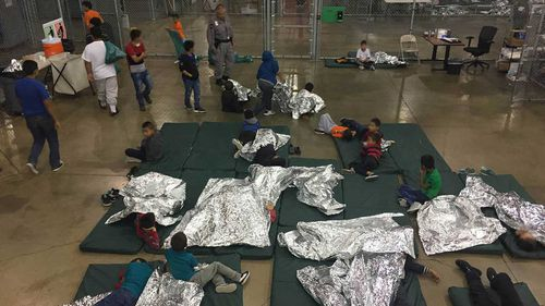 The enclosures where migrant children are being held in the US. (AAP)