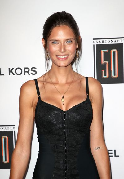 Sport's Illustrated model Bianca Balti with her tattoo.