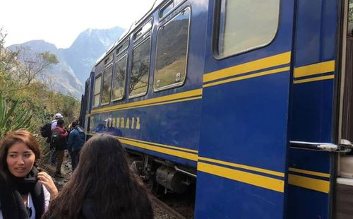 Images posted on social media showed a train from Inca Rail and another from PeruRail pressed up against each other on a rail track.