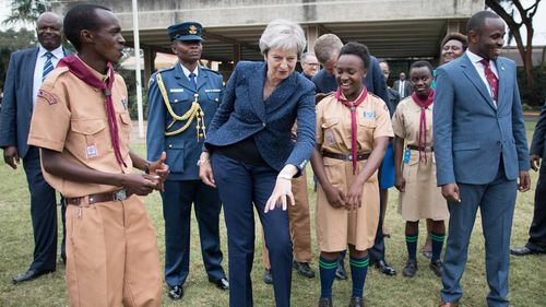 Theresa May caused a stir when she broke into dance while meeting with scouts in Kenya earlier this year.